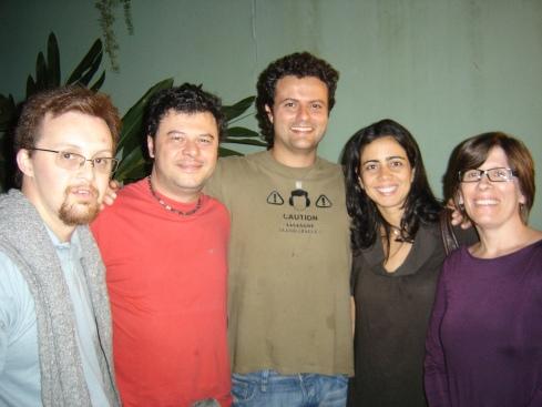 Rodrigo, Marcos Petrucelli, Marcelo Galvão, amiga do Marcelo (vou descobrir) e Elisa