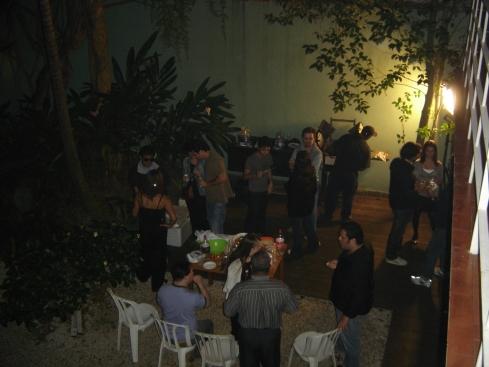 Vista panorâmica da festa