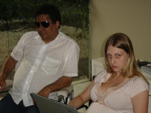 Marçal Souza e sua super-assistente Simone Teider