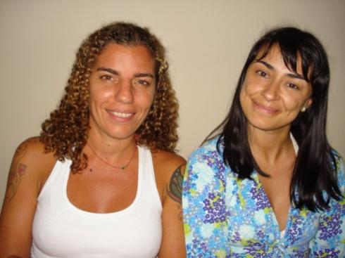 A irreverente produtora Andréa e eu (Alek) toda flower-style