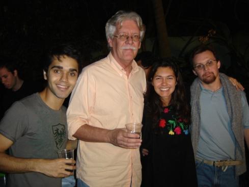 Pai do Rodrigo, a atriz Anna Ludmila, o ator Elder Torres e Rodrigo
