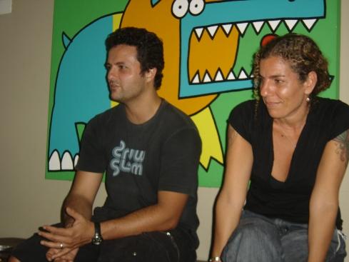 Marcelo Galvão e a produtora Andréa Biancardi