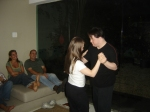 Ritinha e Ariel bailam, enquanto Andréa Beni e Mauro Lima abrem sorrisão