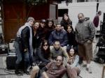 Filmando com a equipe na rua do meu antigo trabalho (Bovespa)