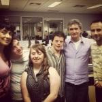 Com Serginho Groismann nos bastidores do Altas Horas