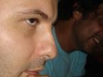 O olhar compenetrado do diretor...