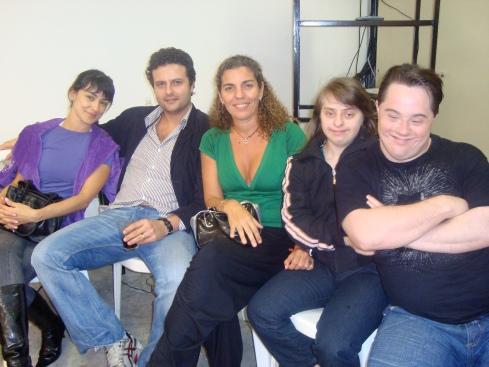 Alek, Galvão, Andréa, Rita e Ariel (olha o soninho dos dois...)