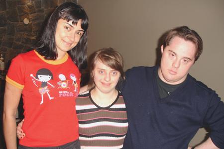 Alek, Rita e Ariel no início dos laboratórios em meados de 2008