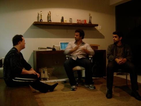 Ariel, Galvão e o ator Elder Torres