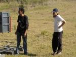 Paulinho Jandira (maquinista) e Roberto (estagiário de produção)
