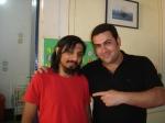 Daniel Torres e Carlos Miola, que interpreta o repórter sensacionalista Novaski.
