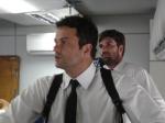 Joel e Naval: o diretor Marcelo Galvão e o ator Oswaldo Lot formam uma dupla de policiais.