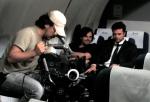 No simulador de voo da Edapa: Eduardo Makino (2o assistente de câmera), Rodrigo Tavares (diretor de fotografia) e Marcelo Galvão (diretor e ator)