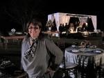 """A própria Claudia Porteiro marcou presença na festa de casamento do """"Colegas""""."""