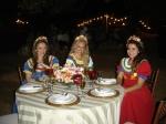Lindas! Renata Gabbai, Cecília Zeminian e Ariane Lima, bailarinas do grupo Zeminian Show