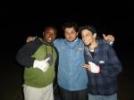 Pereira (geradorista), Juliano (motorista do carro de câmera) e Tadeu (estagiário de produção)