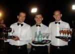 Nota 10: Adriano, Deni e Carlos (equipe de garçons da Claudia Porteiro Buffet)