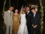 Família dos Noivos: Luiz Nunes, Andrea Bergantin, Natalia Sullivan, Alessandro Delarissa e João Côrtes
