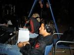 Marcelo Galvão se concentra para concluir as cenas da noite.