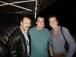 Tiago (2o assistente de direção; ao centro) com os atores Rui Unas e Deto Montenegro