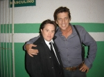 Ariel e Deto Montenegro, ator que interpreta o policial Souza.