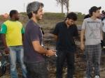 Pereira (geradorista), Federico (técnico de som), Guillhermo (microfonista) e Tadeu (estagiário de produção)