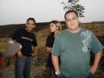 Paulinho Jandira (maquinista), Roberto (estagiário de produção) e Wagner (ajudante geral)
