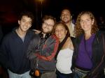 Gustavo (assistente de produção e dublê de Ariel), Jp (continuísta), Cris (male-up), Andrea (platô) e Fernando (contra-regra)