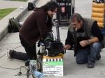 Rodrigo Tavares (diretor de fotografia) e Heron (1o assistente de câmera)