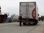 O caminhão da Claudia Porteiro Buffet saiu de Campinas (SP) e chegou em Buenos Aires.