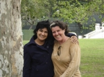 Kiki Orona (figurinista) e Ana Paula Guimarães (diretora de produção)