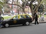 Estamos rodando a cena do taxi.