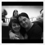 Rita e Ariel no aeroporto
