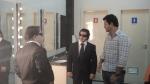 Ariel, Breno e Galvão no camarim