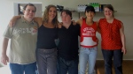 Flavio, Andrea, Ariel, Alek e Rita