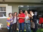 Luiza, Marcia, Marçal, Juliana e Marcela