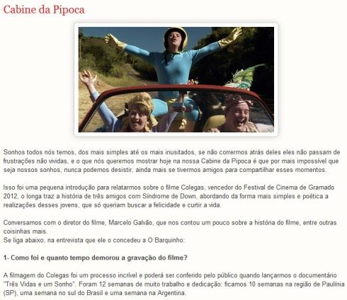 """Entrevista para o site """"O Barquinho Cultural"""""""