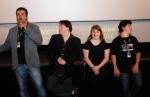 O diretor Marcelo Galvão, Ariel, Rita e Breno apresentam COLEGAS na Mostra Internacional de Cinema de São Paulo