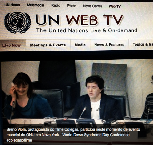Discurso de Breno é transmitido mundialmente ao vivo na WebTV da ONU