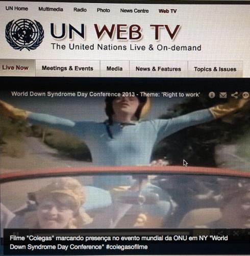 Trailer do Colegas é exibido em evento mundial da ONU