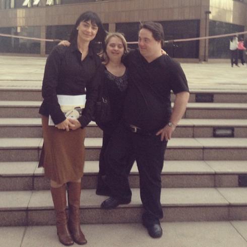 Alek, Rita e Ariel após palestra no Ministério Público de MG