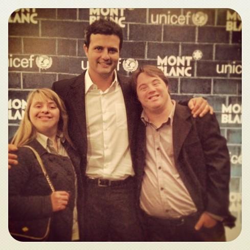Rita, Marcelo e Ariel em jantar da Unicef e Mont Blanc