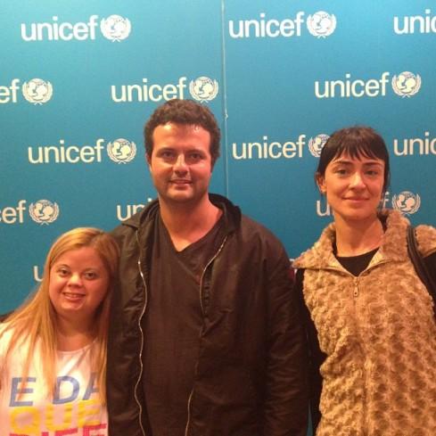 Tati, Marcelo e Aleksandra na ONU/Unicef