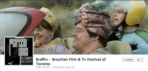 Colegas aparece inclusive ilustra no cabeçalho do Facebook do festival!